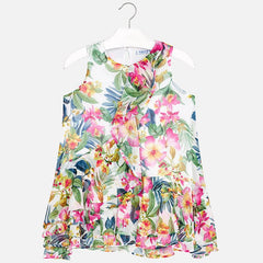 Mayoral Girls Tropical Floral Dress