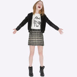 Mayoral Girls Houndstooth Plaid Skirt
