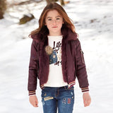 Mayoral Girls Reversible Burgandy Jacket