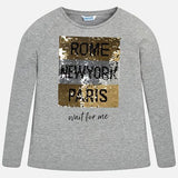 Mayoral Girls Rome Paris Sequin Switch T Shirt