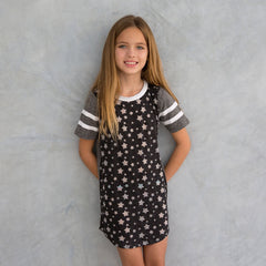 Miki Miette Black Star Girls T Shirt Dress