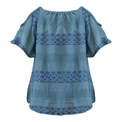 Miki Miette Girls Cold Shoulder Top Blue