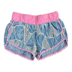 Miki Miette Girls Stripe Art Summer Shorts