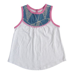 Miki Miette Girls String Art Spring Tank Top