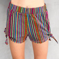 Miki Miette Colorful Elastic Summer Shorts