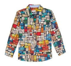 Paul Smith Book Print Dress Shirt
