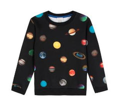 Paul Smith Boys Planet Print Pullover Sweatshirt