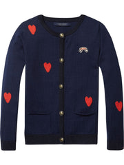 Scotch & Soda Girls Heart Cardigan