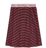 Scotch and Soda Girls Red Gold Pleated Skirt