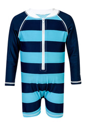 Snapperrock Baby Boy Large Stripe Sunsuit