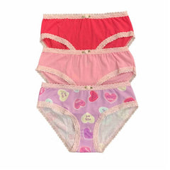 Esme Girls Valentine's Candy Print 3 Pack Panty Pack