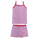 Esme shorts pajama purple stripe