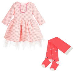 Girls Billieblush Dress and Tights on sale