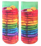 Rainbow Pancakes Printed Socks