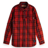 scotch and soda boys 50% off plaid shirts