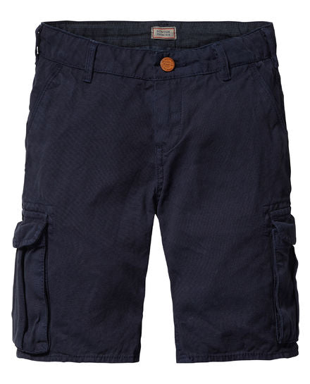 Scotch Shrunk Navy Cargo Shorts