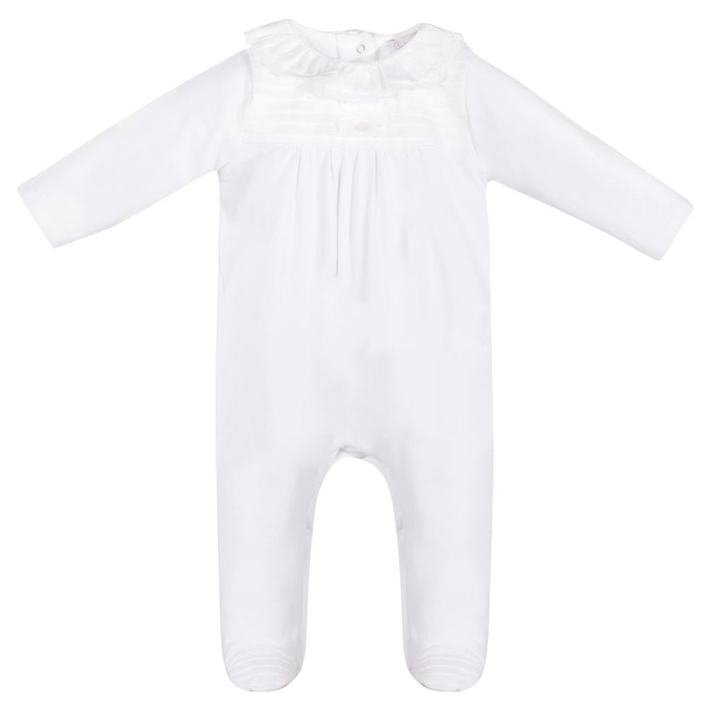 Patachou White Baby Footie