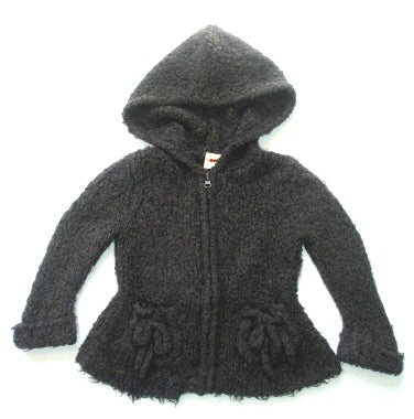 3 Pommes Hooded Cardigan 3618003blue