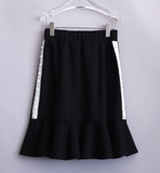 T-Love Black Skirt with Pearls