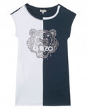 Kenzo Navy & White Dress