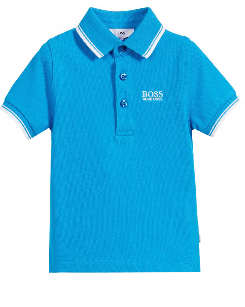 BOSS Turquoise Pique Polo