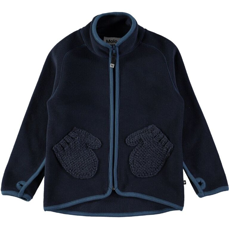 MOLO Ushi Blue Fleece Jacket
