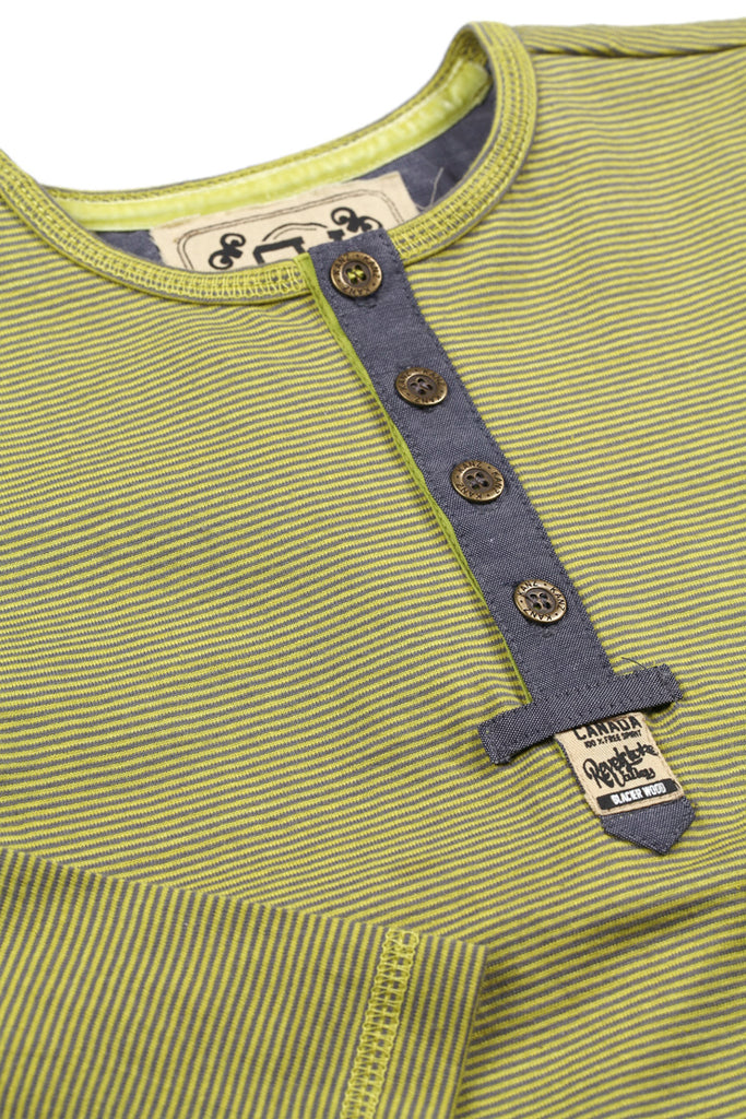 Kanz Green Stripe Henley