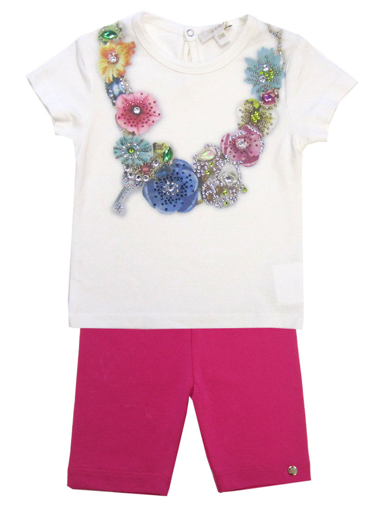 Microbe Flower Tee & Leggings