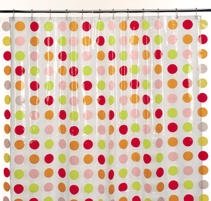 Red Dot Shower Curtain