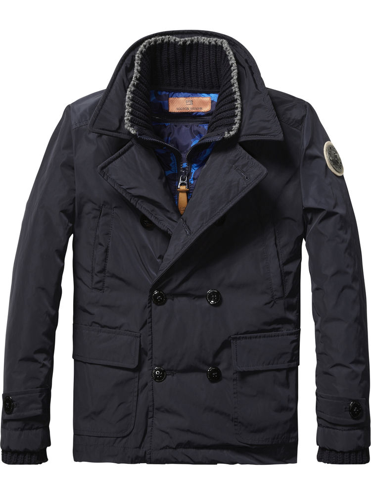 Scotch Shrunk Navy Coat