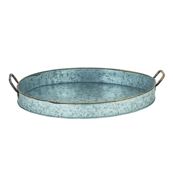 San Miguel Large Oval Handled Deep Tray