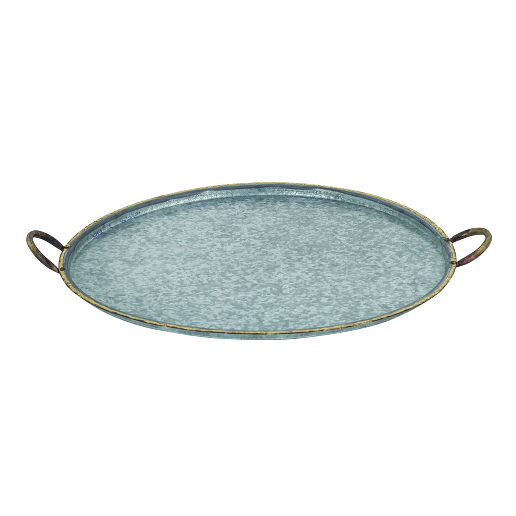 San Miguel Round Handled Tray, Large