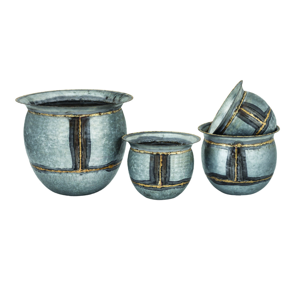 San Miguel Flared Top Planters, S/4