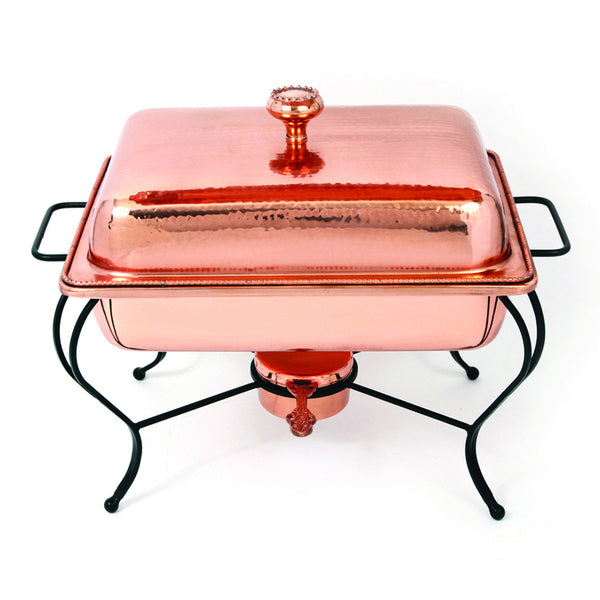 Oven To Table 4 QT Rectangle Copper Chafing Dish