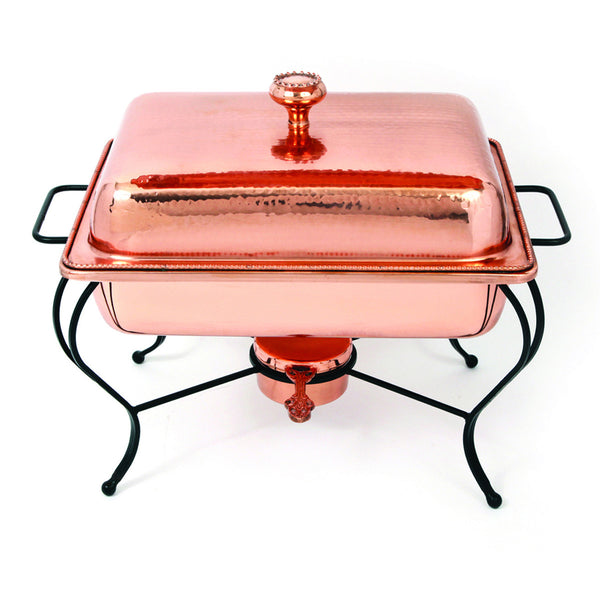 Oven To Table 8 QT Rectangle Copper Chafing Dish