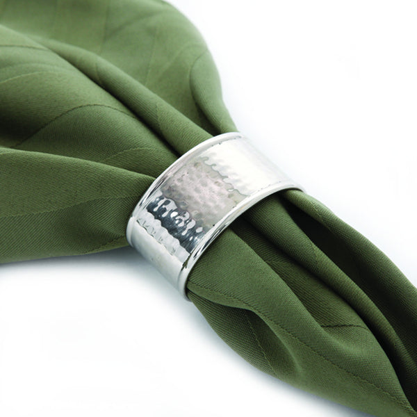 Artisan Hammered Nickel Napkin Ring