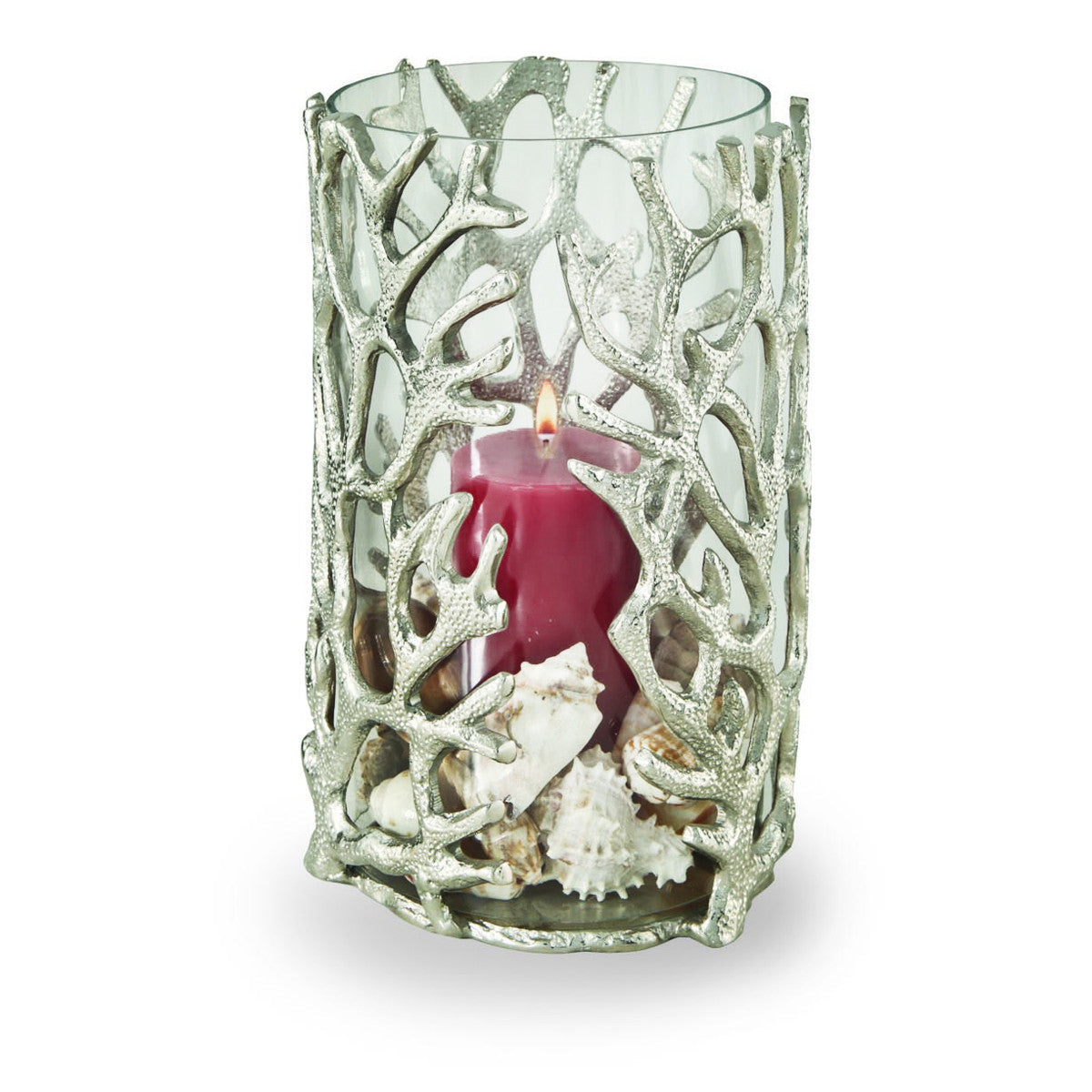 Ocean Coral Hurricane w/ Glass Insert,Tall