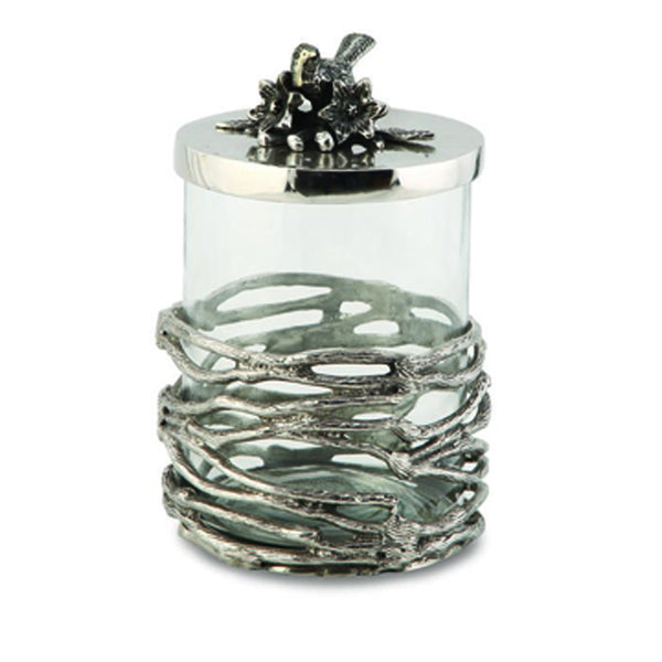 Birds & Branches Covered Glass Jar