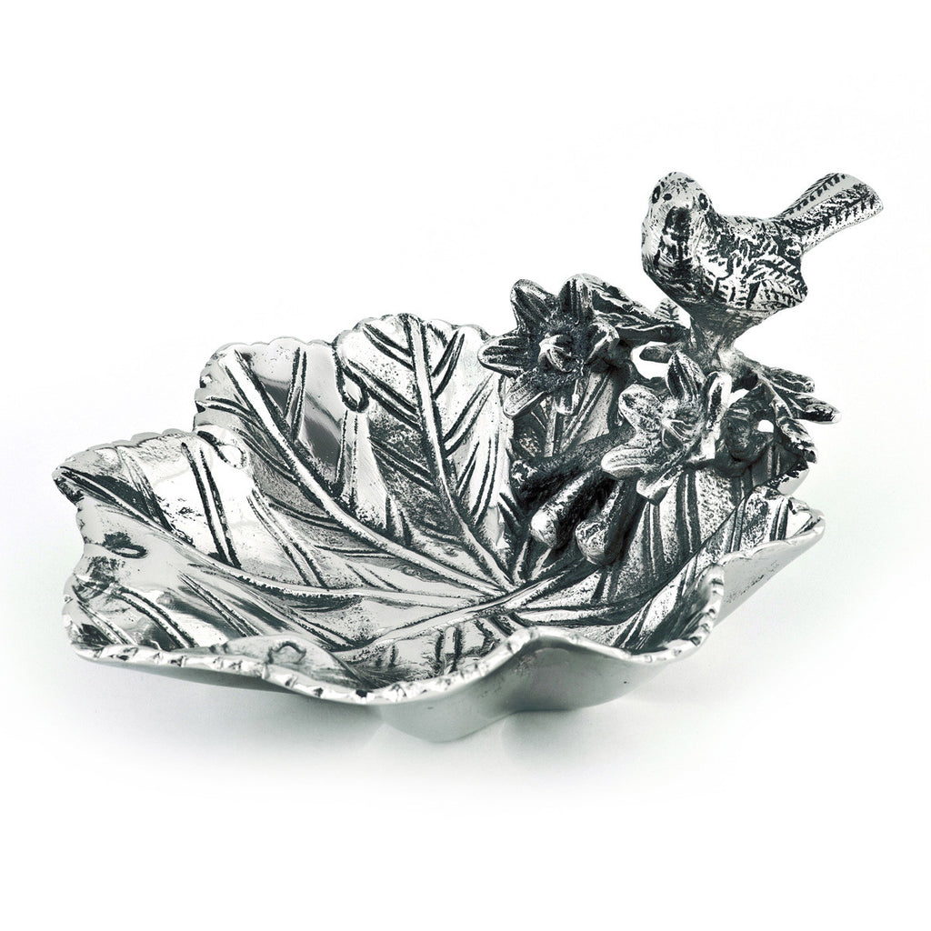 Birds & Branches Leaf & Bird Tidbit Bowl
