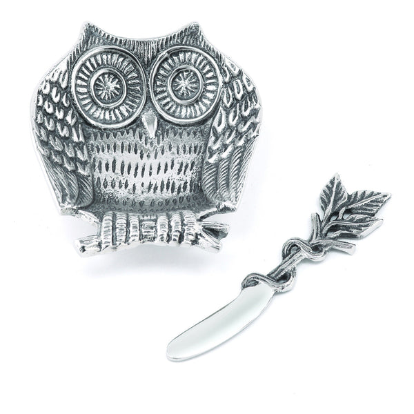 Lakeside Owl Dip Dish w/ Spreader