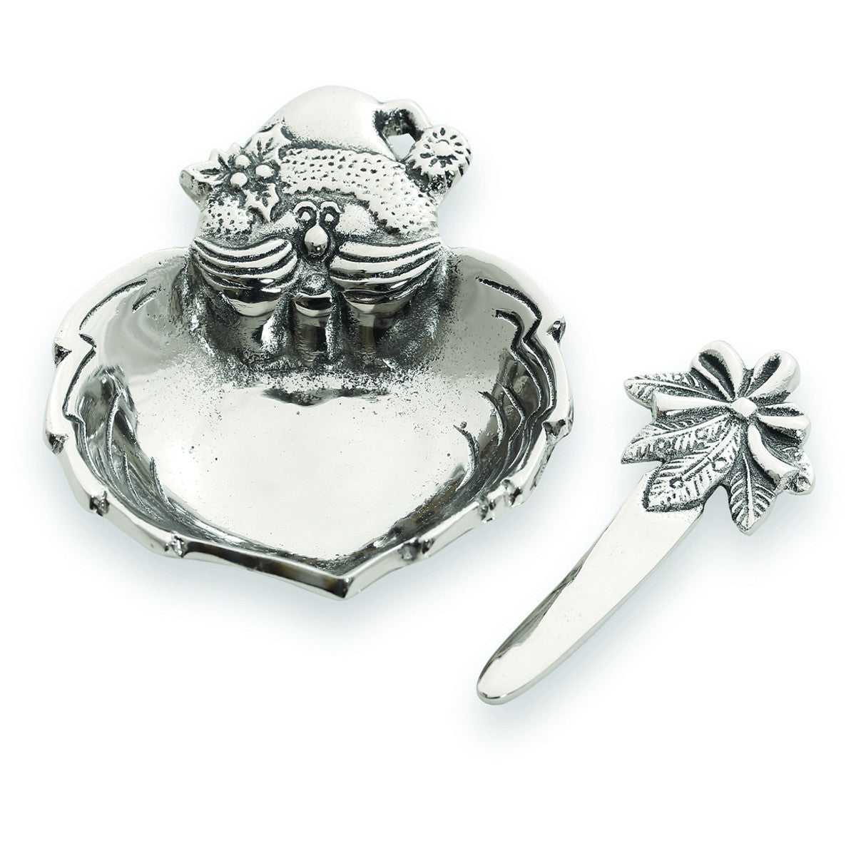 Home For The Holidays Santa Claus Dip Dish w/ Spreader