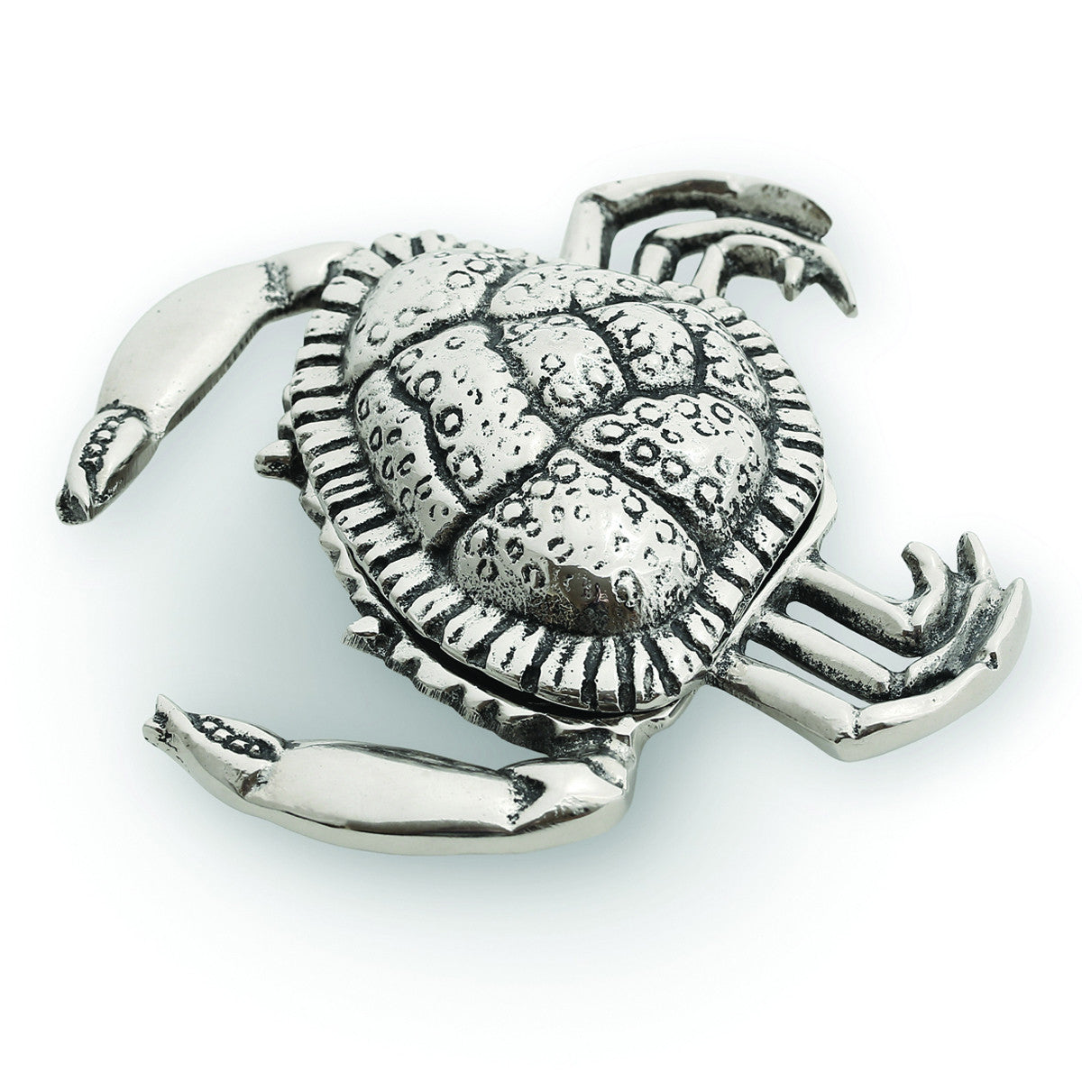 Ocean Crab Metal Jar w/ Lid