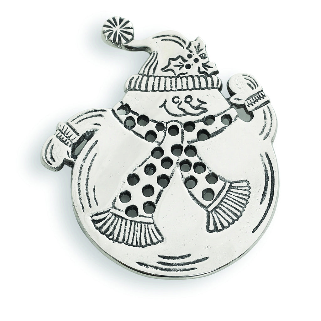 Home For The Holidays Snowman Trivet