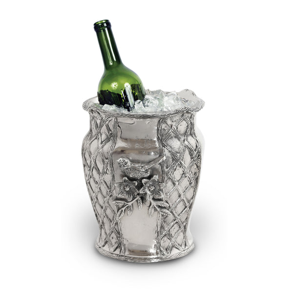 Trellis Wine Cooler / Ice Bucket w/ Bird