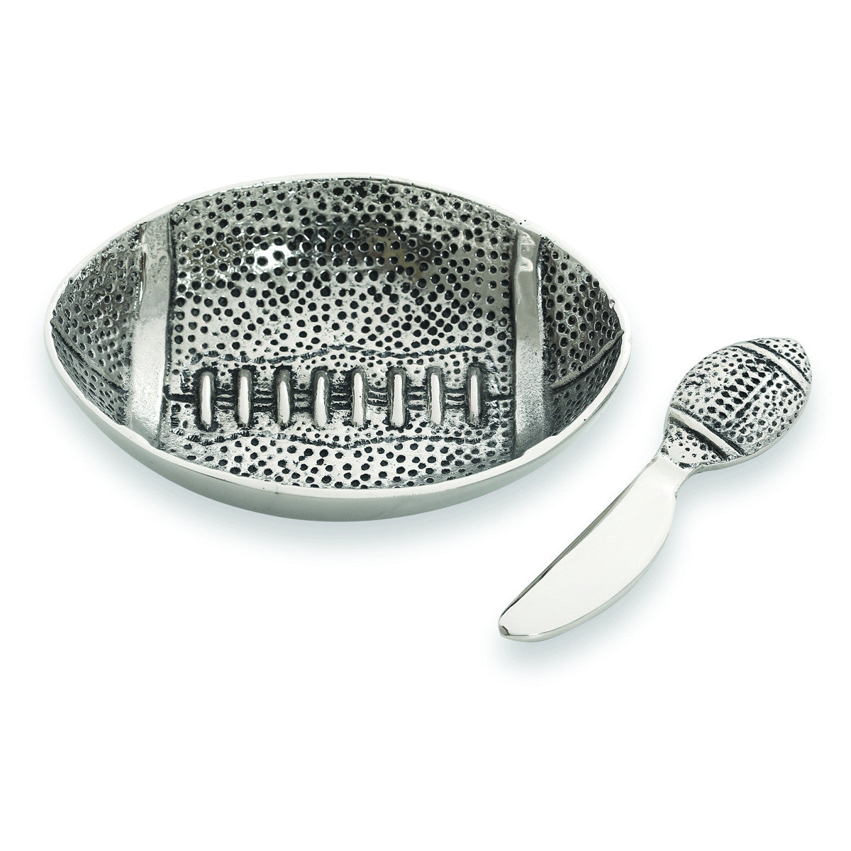 Table Accents Football Dip Dish w/ Spreader