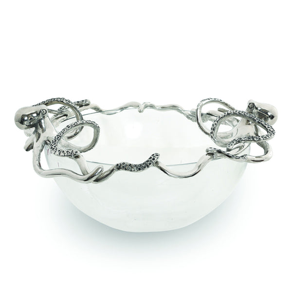 Octopus Glass Serving Bowl