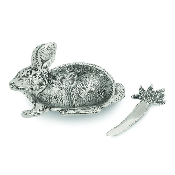 Lakeside Rabbit Dip Dish w/ Spreader