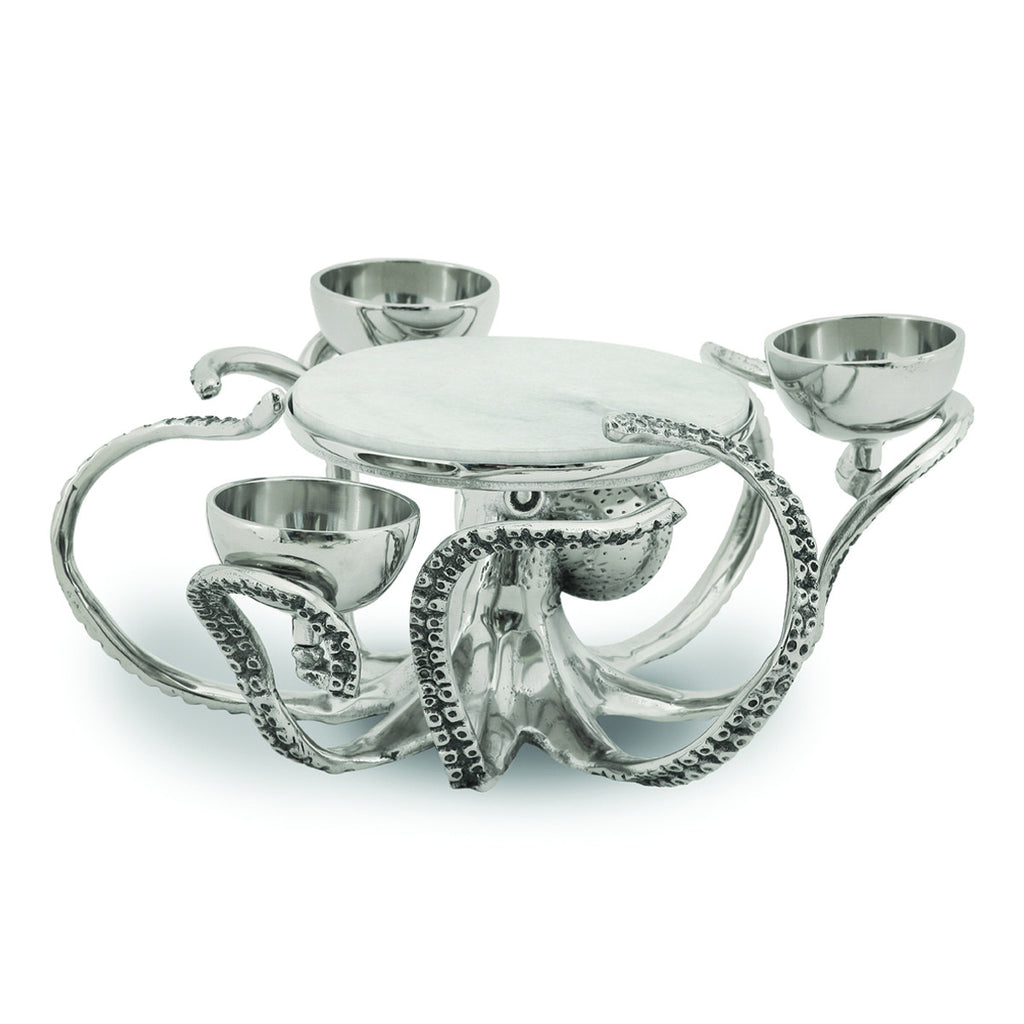 Octopus Pedestal 4-Bowl Dipping Server