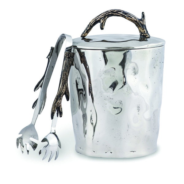 Woodland's Antler Ice Bucket w/ Tongs