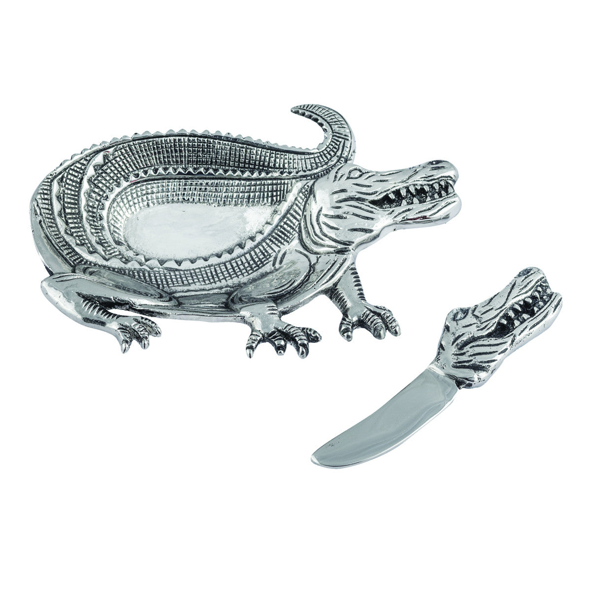 Safari Alligator Dip Dish w/ Spreader